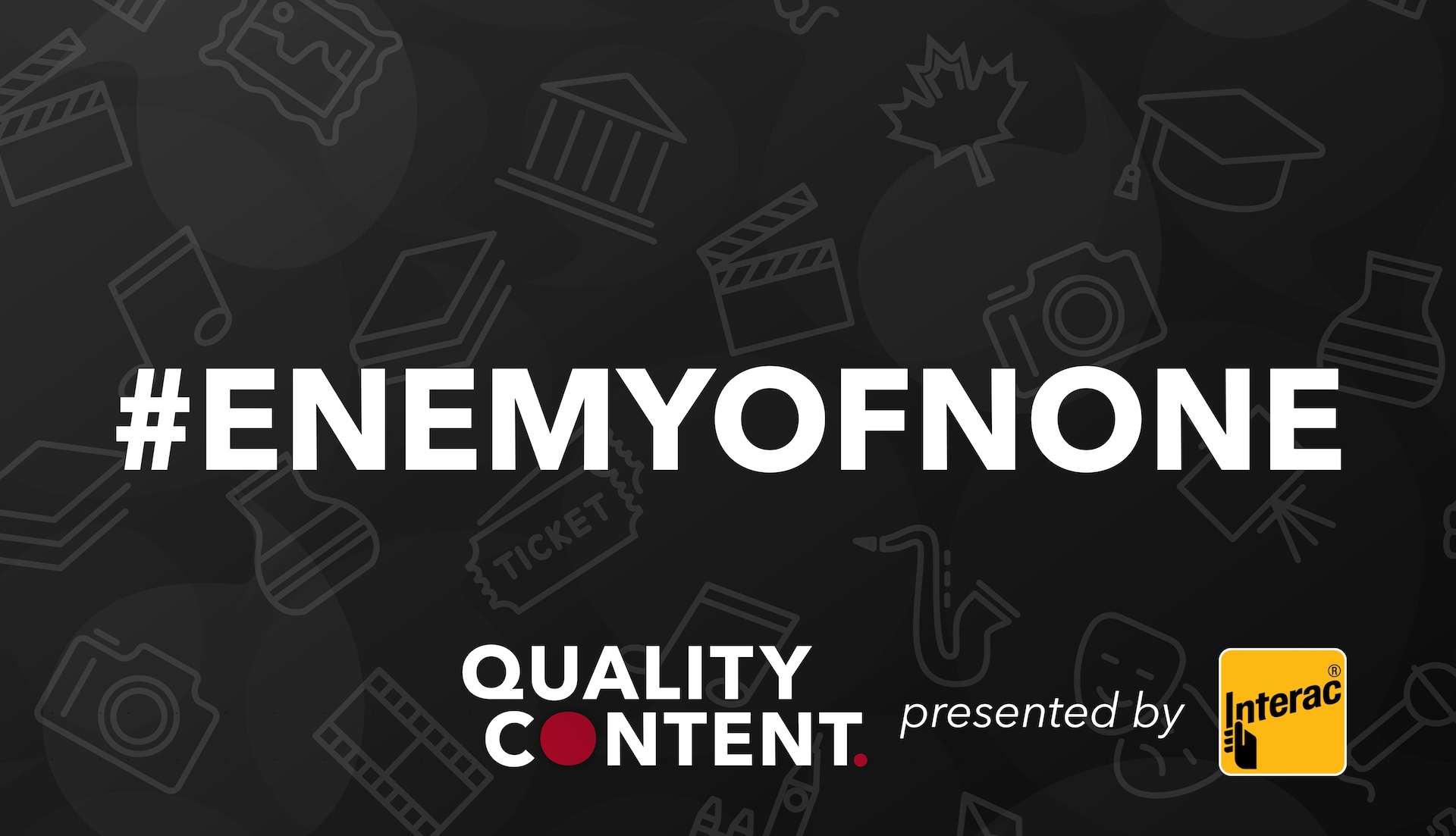 QC Enemy of None graphic w logos